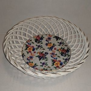 Vintage German Woven Basket Bowl